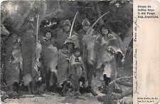 B86261 grupo de indios onas t del fuego  types folklore argentina