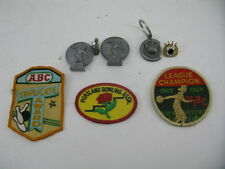 WIBC 1963-1964 League champion Vintage Collector Patch Bowling Pins Pin 235 Lot