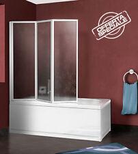Vasca parete vasca sopravasca doccia box ante pieghevole cm.133