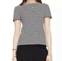 Kate Spade Broome Street Women's Size XS Striped Cotton Short Sleeve Tee Top