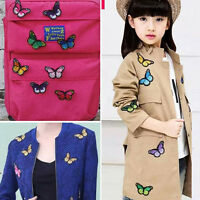 10pcs/Set Nice Butterfly Embroidered Patch Iron/Sew on Applique Water Sol Dxyc