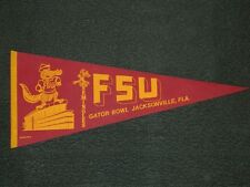 1982 FLORIDA STATE FSU SEMINOLES GATOR BOWL PENNANT UNSOLD STOCK