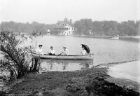 "1907 Boating at Garfield Park, Chicago, Illinois Old Photo 13"" x 19"" Reprint"