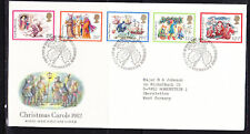 Great Britain 1982 Christmas Carols First Day Cover - 218b to Germany