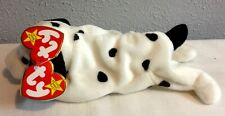 TY BEANIE BABIES DOTTY DOG WITH ERRORS AND 2 HANG TAGS ADULT OWNED MWMT
