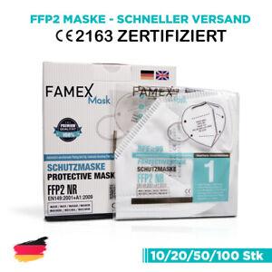 10x FFP2 Mundschutz Atemschutz Maske Gesichtsmaske Filtermaske Schutz CE2163