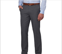NWT Men's Greg Norman Ultimate Travel Pant Gray Moisture wick stretch Easy Care