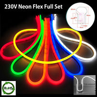 5m Neon Flex LED colour Rope Light Holiday Party Valentine Decor Strip 220/240V