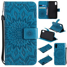 Magnetic Embossed Leather Flip Stand Case Wallet Cover For Huawei Sereis Phone