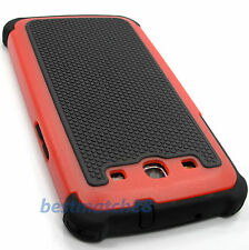 fits Samsung galaxy s3 red black triple layer rugged hard case skin  S