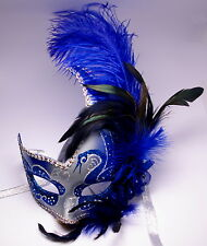 New Venetian Masquerade Costume Ball Prom Dance Party Wedding Silver Blue Mask