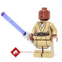 Lego Star Wars Mace Windu minifigure from set 75199