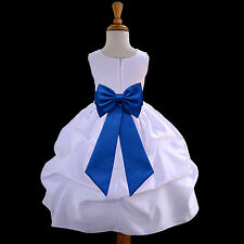 WHITE JR. BRIDESMAID INFANT TODDLER PAGEANT RECITAL PARTY GOWN FLOWER GIRL DRESS