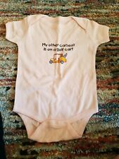 My Other Stroller is a Golf Cart Cafe Press 12-18 months short sleeve bodysuit