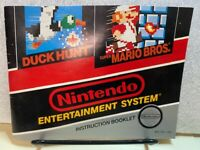 Duck Hunt/Super Mario Bros Nintendo Instruction Manual NES Booklet NO Game