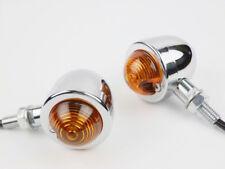 Motorcycle Metal Bullet Turn Signal Light Indicator Lamp Cruiser Chopper Bobber