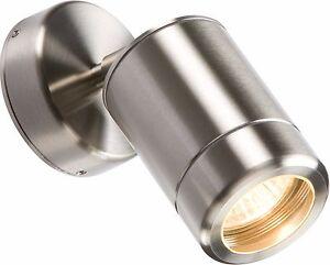 Knightsbridge WALL3 Modern Outdoor Garden Wall Lantern Directional Spot Light