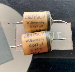 2x ERO FOL .047uf 630v Tone Vintage Capacitors Pulls Fisher