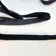 Black Velvet elastic ribbon - 9mm wide x 5 metres dressmaking craft