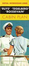 Royal Interocean Deluxe 1950s Deck Plan for RUYS, TEGELBERG, and BOISSEVAIN