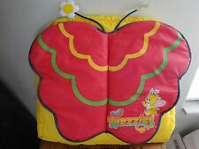 VTG 80s Wuzzles Backpack Child's Butterbear Yellow Rare Nylon Disney Cartoon