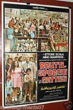 BRUTTI, SPORCHI E CATTIVI (SCOLA) Original Lebanese Movie Poster 70s