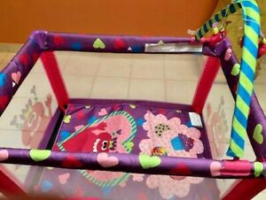Cosco Play Yard PY384 in Pink and Purple