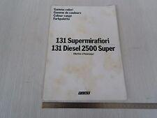 TABELLA COLORI ORIGINALE FIAT 131 SUPERMIRAFIORI