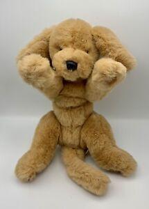 """Gund vintage Muttsy 14"""" plush puppy dog stuffed golden retriever suede paws 1985"""