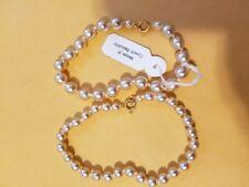 "Czech Glass Pearl bracelets 7-1/2"" long. 2 pcs. 8mm,6mm beads"