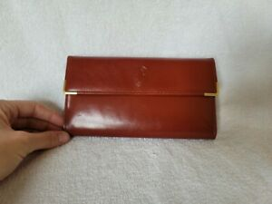 Wallet - Buxton Vintage Leather Organizer rust Clutch Volare NWT