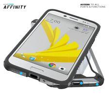 Poetic Affinity【Premium Thin Dual material】Bumper Case For HTC Bolt Black