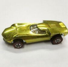 Vintage 1968 Hot Wheels Redline Turbo-Fire Lime W/ Light Interior Nm Original