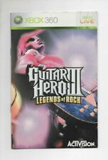 Guitar Hero III (3) Legends of Rock - XBOX 360 - MANUAL ONLY (NO GAME)
