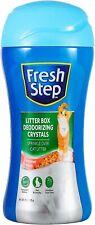 Fresh Step Cat Litter Crystals Cat Litter Box Deodorizer Summer Breeze 15 oz