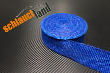 10m Fiberglas Hitzeschutzband 50mm blau 800°C *** Heat Wrap Turbo Fächerkrümmer