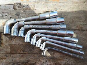 Lot 8 clés à pipes débouchées FACOM