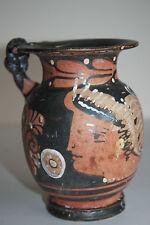 QUALITY ANCIENT GREEK RED FIGURE  POTTERY ONIOCHOE 4th CENTURY BC WINE JUG