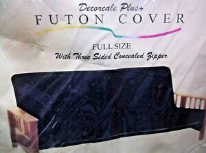 EA Excellent Art 100% Cotton Black Full Size Futon Cover  NOS