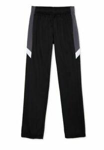 Athletic Works Boys Tricot Track Pants, Size Medium (8) running jogging (C16)