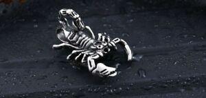 Edelstahl Anhänger Scorpion Horoskop Gothic EMO Schmuck Mode Charm NEU