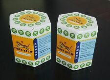 2 x 30g TIGER BALM WHITE OINTMENT - NEW JARS ARTHRITIS PAIN FREE SHIP IN USA