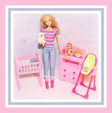 ❤️Barbie Careers I Can Be Babysitter Doll Baby Krissy Playset Nursery Lot❤️