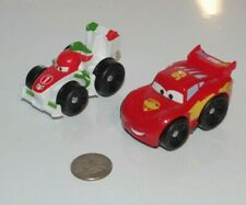 Disney Pixar Cars 2 Little People Wheelies Lightning McQueen & Francesco Lot x2