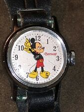 Vintage Ingersoll Mickey Mouse Watch manual wind runs Good