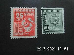 Spanisch Andorra.Mi.-Nr.45,51 * *    siehe Bilder