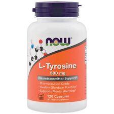 NOW Foods L-TYROSINE 500mg Amino Acid Mental Alertness 120 Capsules