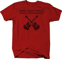 Music Cures Things Medication Doesn't Guitar Bass Artistic  Color T-Shirt