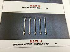 1/43 BROOKLIN SIDEWALK BSW 11 PARKING METERS METALLIC GREY X5
