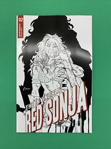 The Invincible Red Sonja #2 1:15 Conner Line Art Incentive Variant Dynamite 2021